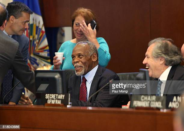 Goodwill Ambassador of the United Nations Children's Fund Danny Glover arrives at The Organization of American States for his presentation on...