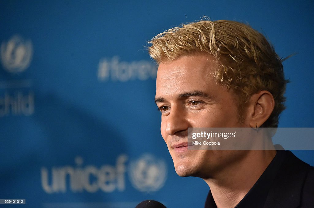 Goodwill Ambassador Orlando Bloom attends UNICEF's 70th Anniversary Event at United Nations Headquarters on December 12, 2016 in New York City.