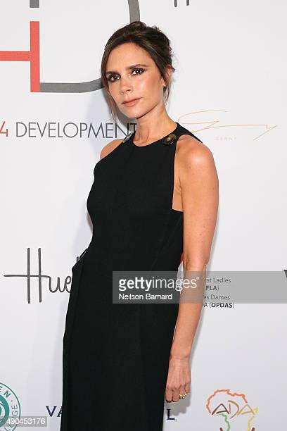 UNAIDS goodwill ambassador Victoria Beckham attends the Fashion 4 Development's 5th annual Official First Ladies luncheon at The Pierre Hotel on...