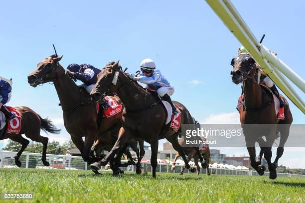 Goodwill ridden by Darren Gauci wins Robert Hunter Handicap at Caulfield Racecourse on February 04 2017 in Caulfield Australia