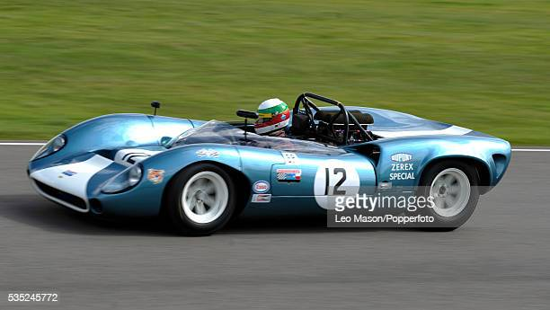 Goodwood Revival Meeting Goodwood Motor Circuit UK Whitsun Trophy Jose Albuquerque driving 1965 LolaChevrolet T70 Sypder