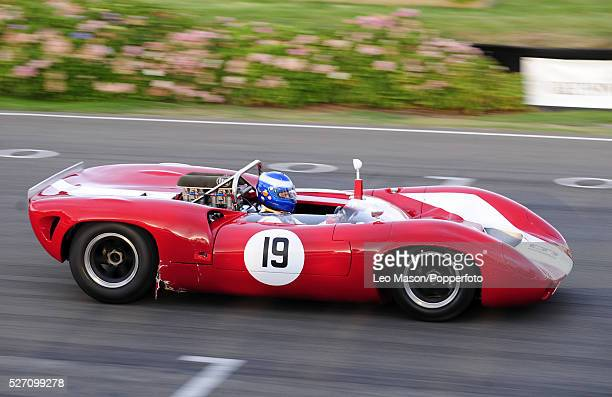 '2009 Goodwood Revival meeting Goodwood motor racing circuit UK The Whitsun Trophy Race 1966 LolaChevrolet T70 Sypder '