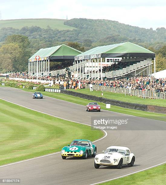 Goodwood Revival Meeting historic sports car racing Ferrari 250 GTO and AC Cobra at Madgwick Artist Unknown