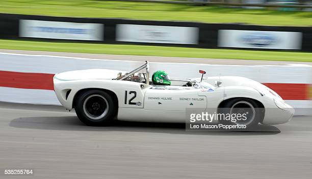 Goodwood Revival Meeting International Motor Racing Circuit Goodwood UK The Whitsun Trophy Race Jon Minshaw driving a 1965 LolaChevrolet T70 Sypder