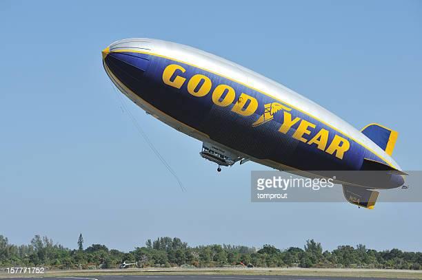 Goodyear Blimp Taking Off
