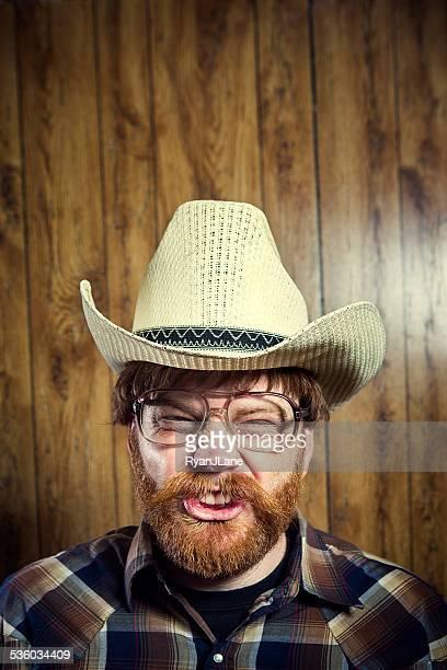 Goofy cow-boy avec moustache