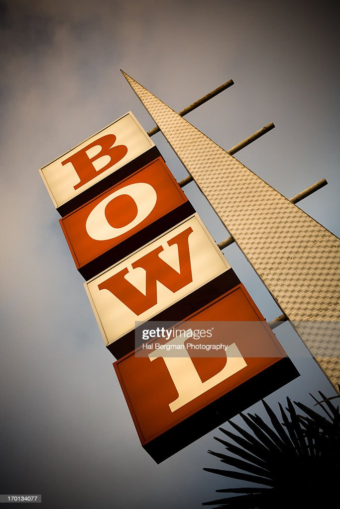 Googie Bowling Sign : Stock Photo