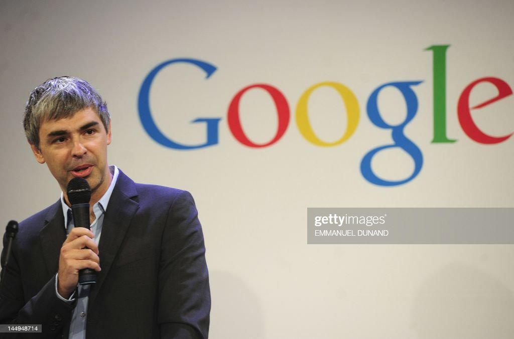 Google CEO Larry Page holds a press annoucement at Google headquarters in New York on May 21, 2012. Google announced that it will allocate 22,000 square feet of its New York headquarters to CornellNYC Tech university, free of charge for five years and six month or until the university completes its campus in New York. AFP PHOTO/Emmanuel Dunand
