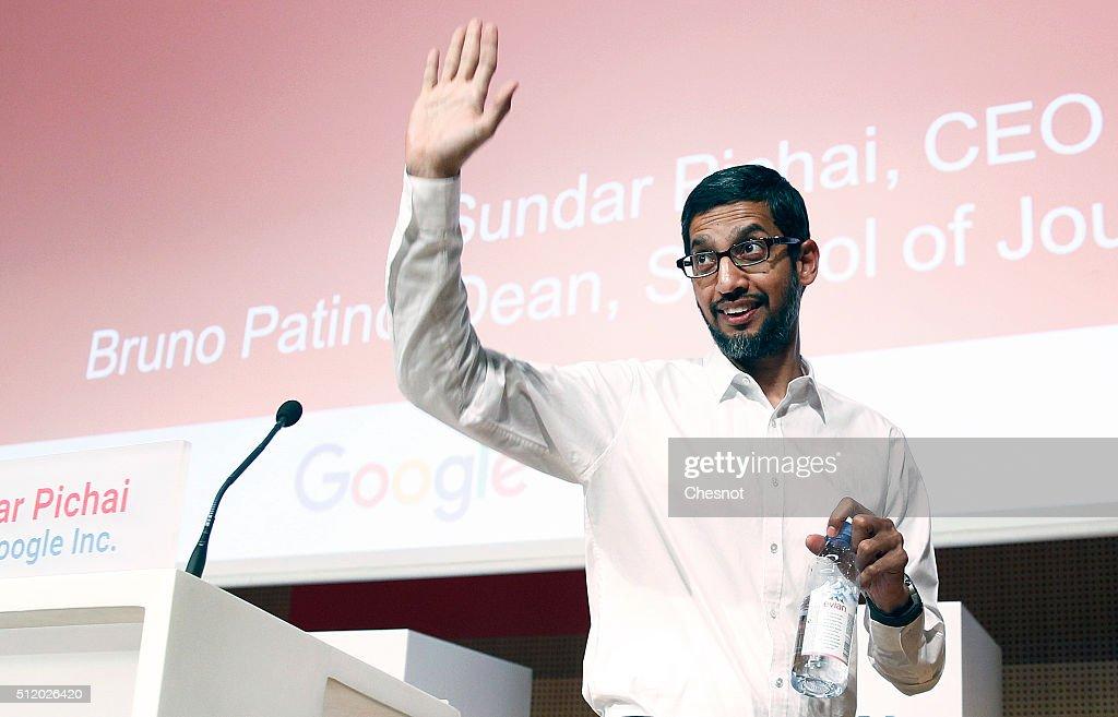 Sundar PICHAI, Google CEO Gives A Keynote To The Sciences Po Students