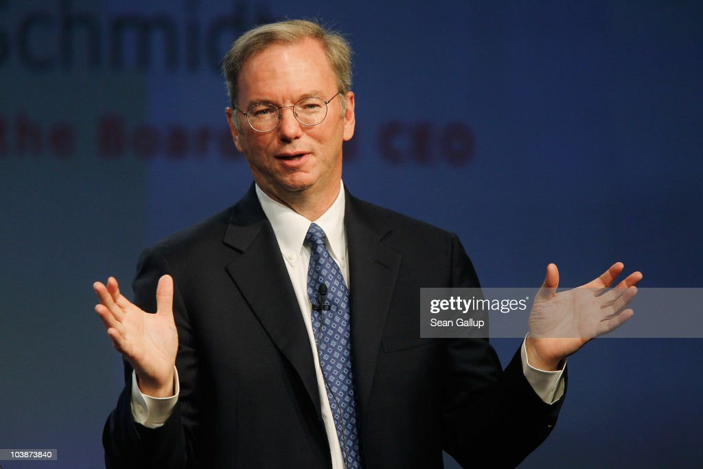 Google Chairman and CEO <a gi-track='captionPersonalityLinkClicked' href=/galleries/search?phrase=Eric+Schmidt&family=editorial&specificpeople=5515021 ng-click='$event.stopPropagation()'>Eric Schmidt</a> delivers the closing keynote speech at the 2010 IFA technology trade fair at Messe Berlin on September 7, 2010 in Berlin, Germany. The IFA 2010 is open to the public from September 3-8.