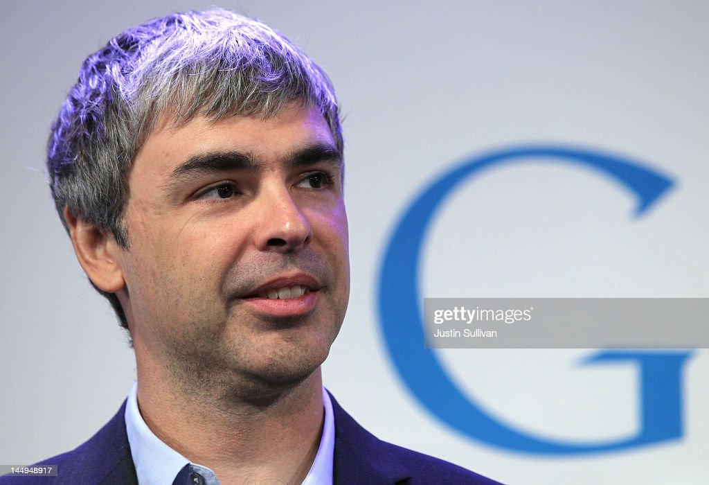 Google co-founder and CEO Larry Page speaks during a news conference at the Google offices on May 21, 2012 in New York City. Google announced today that it will allocate 22,000 square feet of space in its New York headquarters to CornellNYC Tech while the university completes its new campus on Roosevelt Island.