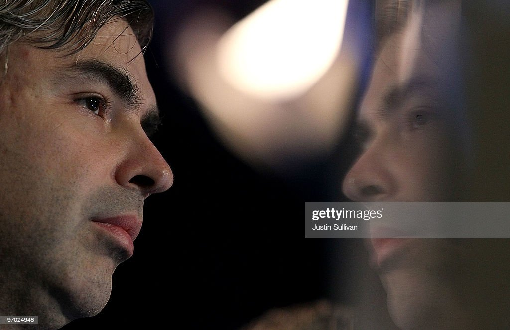 Google co-founder <a gi-track='captionPersonalityLinkClicked' href=/galleries/search?phrase=Larry+Page&family=editorial&specificpeople=753550 ng-click='$event.stopPropagation()'>Larry Page</a> looks on during a product launch on February 24, 2010 at the eBay headquarters in San Jose, California. Bloom Energy, a Silicon Valley start up, introduced the 'Bloom Box', a solid oxide fuel cell device that can generate electricity at a cost of 8 to 10 cents per kilowatt hour using natural gas.