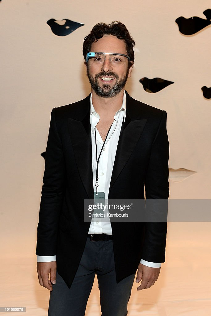 Google cofounder Sergey Brin attends the Diane Von Furstenberg Spring 2013 fashion show during MercedesBenz Fashion Week at The Theatre at Lincoln...