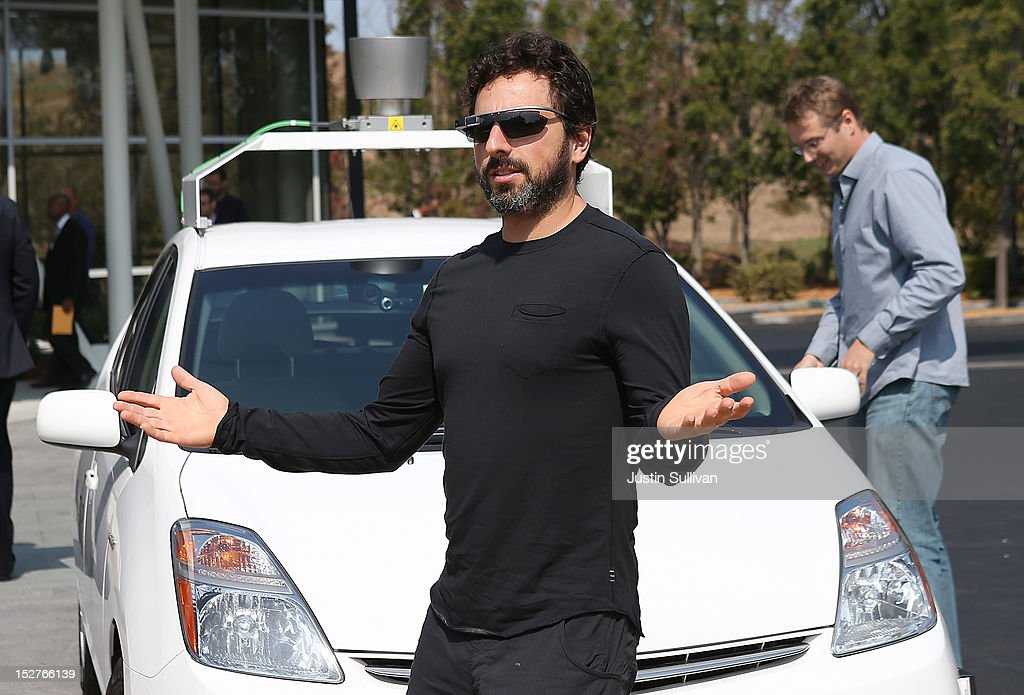 Google co-founder <a gi-track='captionPersonalityLinkClicked' href=/galleries/search?phrase=Sergey+Brin&family=editorial&specificpeople=753551 ng-click='$event.stopPropagation()'>Sergey Brin</a> stands in front of a self-driving car at the Google headquarters on September 25, 2012 in Mountain View, California. California Gov. Jerry Brown signed State Senate Bill 1298 that allows driverless cars to operate on public roads for testing purposes. The bill also calls for the Department of Motor Vehicles to adopt regulations that govern licensing, bonding, testing and operation of the driverless vehicles before January 2015.