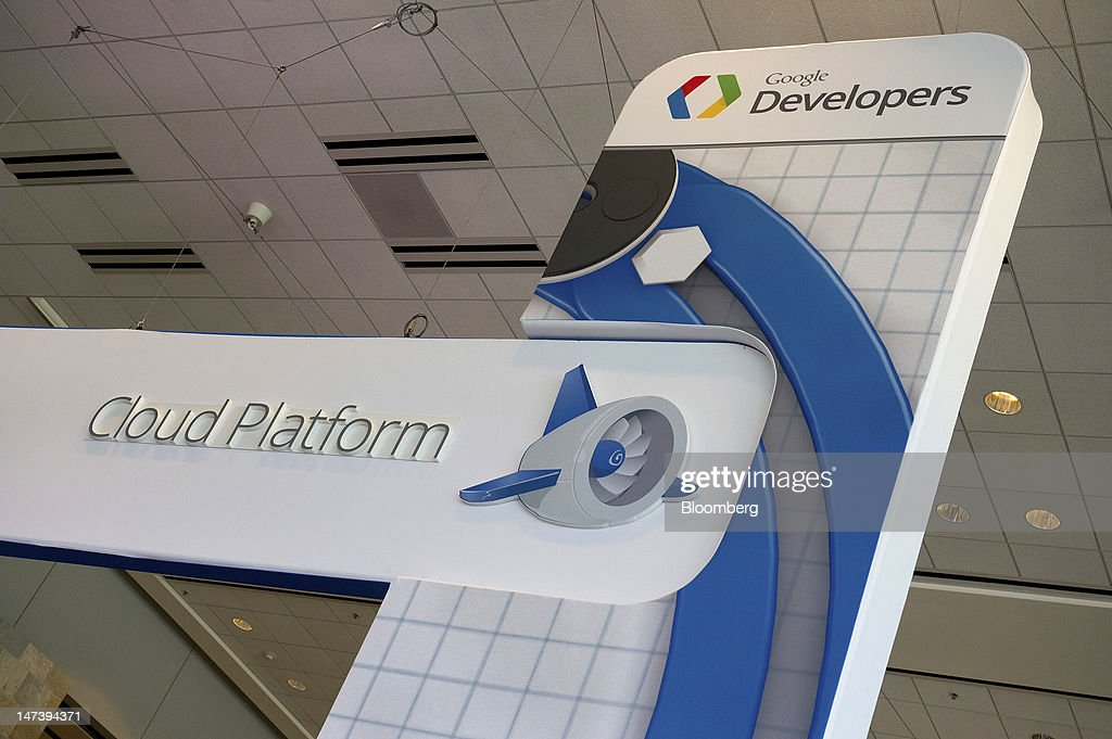 Google Developers signage is displayed during the Google I/O conference in San Francisco, California, U.S., on Thursday, June 28, 2012. Google Inc., owner of the world's most popular search engine, unveiled a cloud-computing service for building and running applications to help woo customers and challenge Amazon.com Inc.'s Web Services. Photographer: David Paul Morris/Bloomberg via Getty Images