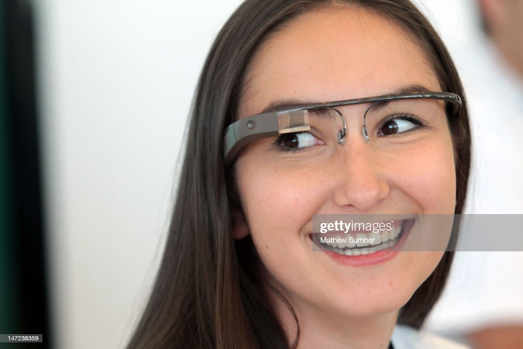 A Google employee wears a pair of Glass during Google's Developers Conference on June 27, 2012 in San Francisco, California. Google Glass, available for pre-orders to developers at $1,500, feeds the user information and uploads data and images from and to the web. Also announced during the conference was the new Nexus 7 tablet and the social streaming media player, the Nexus Q.