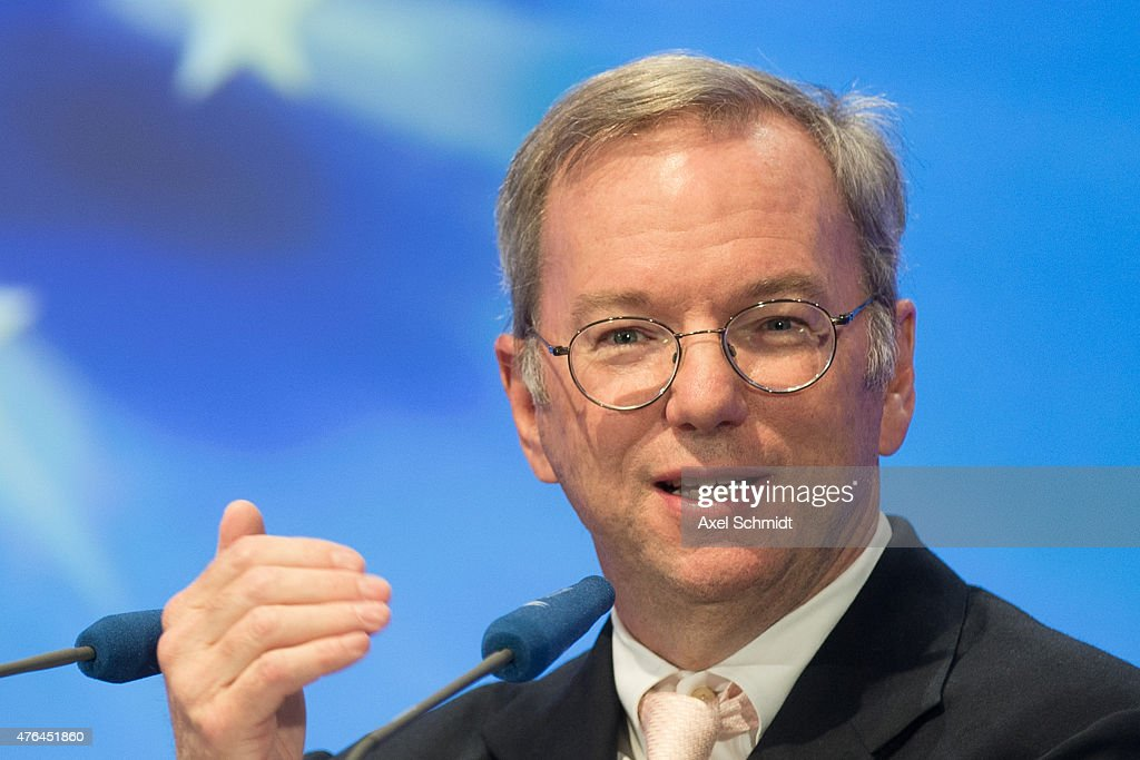 Google Executive Chairman <a gi-track='captionPersonalityLinkClicked' href=/galleries/search?phrase=Eric+Schmidt&family=editorial&specificpeople=5515021 ng-click='$event.stopPropagation()'>Eric Schmidt</a> speaks at the CDU Economics Conference of the Economic Council on June 09, 2015 in Berlin, Germany. The Economic Council (Wirtschaftsrat der CDU e.V.) is a German business association representing the interests of more than 11,000 small and medium sized firms, as well as larger multinational companies.