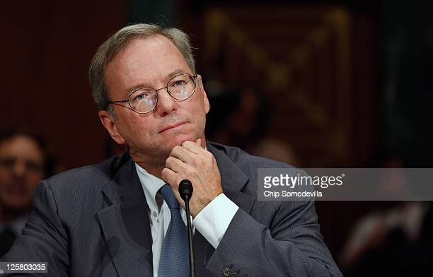 Google Executive Chairman Eric Schmidt testifies before the Senate Judiciary Committee's Antitrust Competition Policy and Consumer Rights...