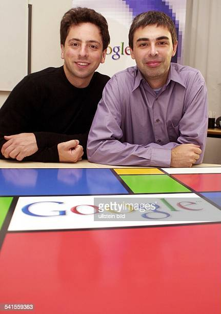 Google Gründer und Präsident Russland / USAmit seinem Partner Larry Page