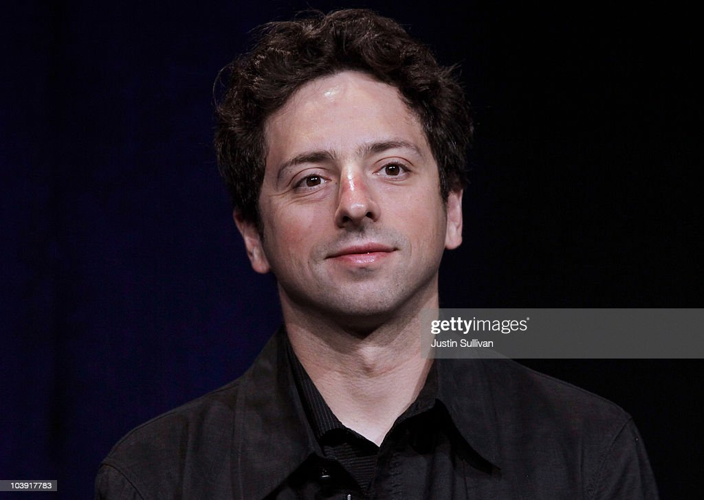 Google Inc. co-founder <a gi-track='captionPersonalityLinkClicked' href=/galleries/search?phrase=Sergey+Brin&family=editorial&specificpeople=753551 ng-click='$event.stopPropagation()'>Sergey Brin</a> looks on during a question and answer session following the launch of the new Google Instant during a special launch event September 8, 2010 in San Francisco, California. Google announced the launch of Google Instant, a faster version of Google search that streams results live as you type your query.
