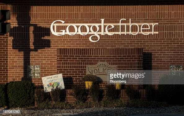 Google Inc Fiber signage is displayed outside of the company's office in Kansas City Missouri US on Tuesday Nov 27 2012 Google Inc will move a step...
