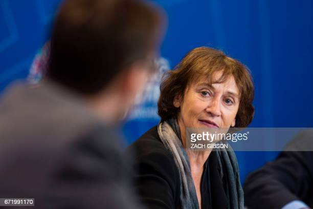 Google Inc Head of Global Public Policy Caroline Atkinson speaks during a panel discussion on the effects of digitalization and technology on fiscal...