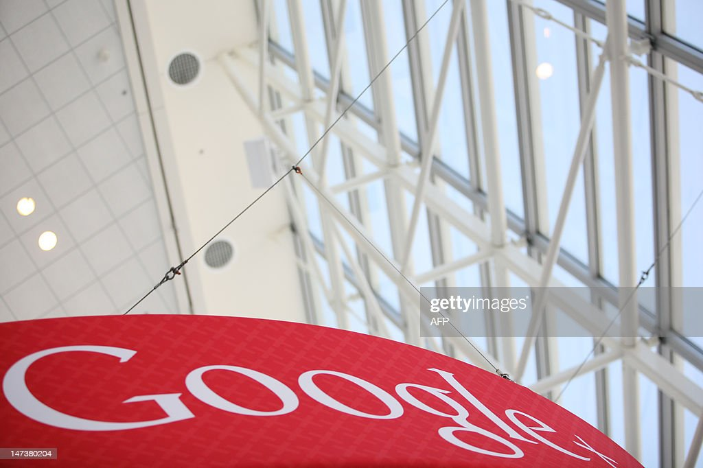 A Google+ logo is seen at Google's annual developer conference, Google I/O, at Moscone Center in San Francisco on June 28, 2012 in California. AFP PHOTO / Kimihiro Hoshino