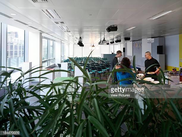 Google London United Kingdom Architect Degw Google Canteen Through Jungle