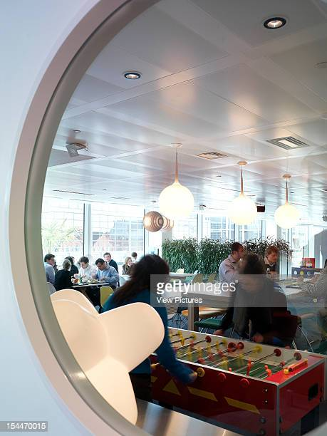 Google London United Kingdom Architect Degw Google View Through Window To Table Football / Canteen