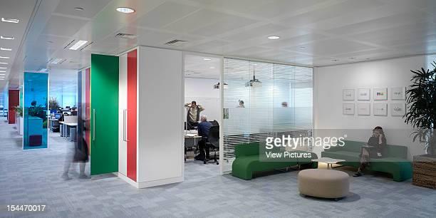 Google London United Kingdom Architect Degw Google Waiting Area View Into Meeting Room