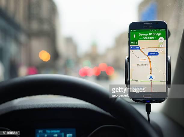 Google Karten Navigation auf dem Smartphone Samsung S6