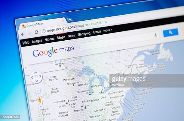 Page Web Google Maps sur le navigateur