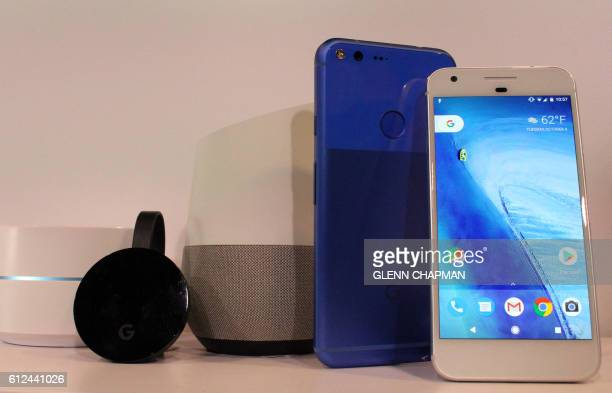 Google pushes deep into hardware with new Wifi Chromecast Home and Pixel smartphone devices at a press event in San Francisco California on October 4...