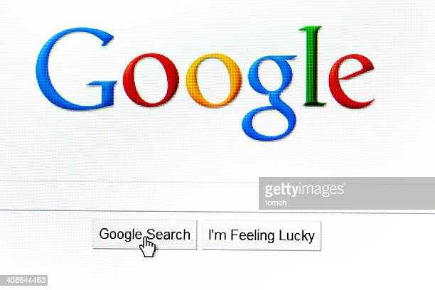 Google search page in the internet