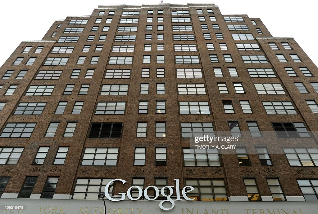 Google's NYC headquarters on 8th Avenue in New York January 11, 2013 Google has given its New York City neighborhood the gift of free Wi-Fi in the in areas between Gansevoort Street and 19th Street from 8th Avenue to the West Side Highway as welll as some public areas. AFP PHOTO / TIMOTHY A. CLARY