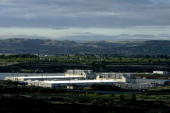 Google's two new computing centers are seen June 15 2006 in The Dalles Oregon The centers each the size of a football field are located in the small...