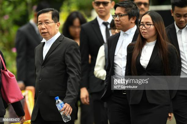 Gooi Soon Seng a lawyer for Indonesian defendant Siti Aisyah walks out during a break in the trial of Aisyah and Vietnamese woman Doan Thi Huong at...