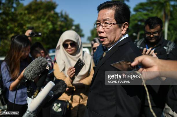 Gooi Soon Seng the lawyer for Indonesian national Siti Aisyah speaks to journalists after a pretrial procedure for the assassination of Kim JongNam...