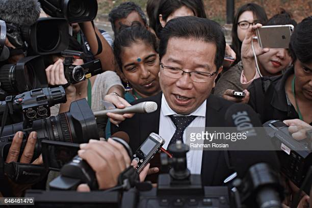 Gooi Soon Seng the lawyer who represent Siti Aisyah speaks to journalists as he arrives at Sepang Magistrate Court on March 1st 2017 in Sepang...