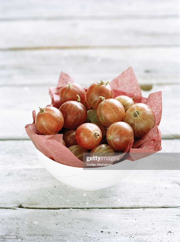 Gooseberries in a bowl. : Stock Photo