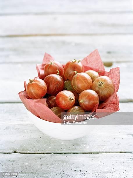 Gooseberries in a bowl.