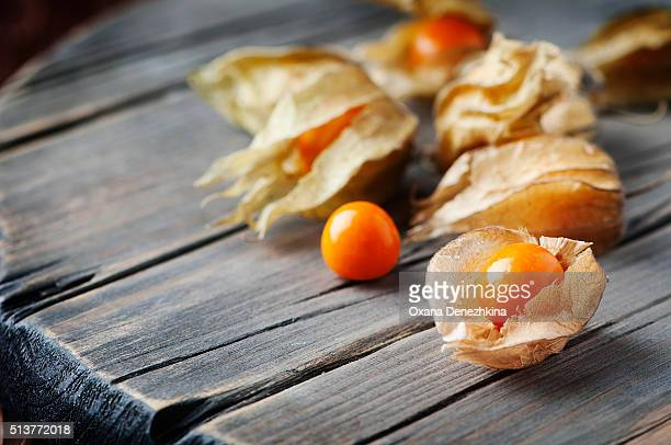 gooseberry on the wooden table