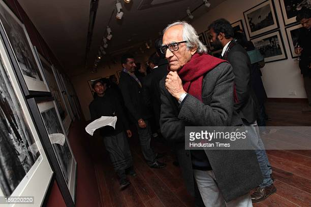 Gopi Gajwani during the Photo exhibition titled Nemai Ghosh Satyajit Ray and Beyond at Delhi Art Gallery Hauz Khas Village on January 7 2013 in New...
