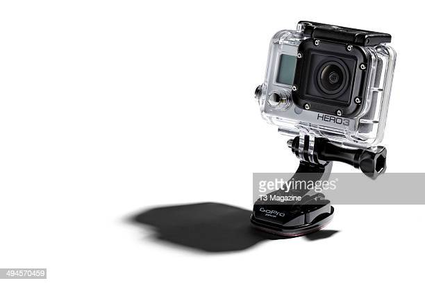 A GoPro HD Hero action camera photographed on a white background taken on September 19 2013