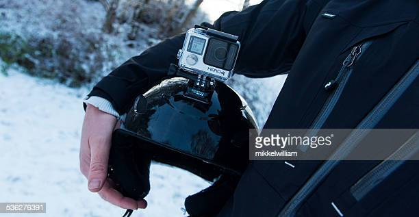 GoPro Hero 4 Black Edition mounted on skiing helmet