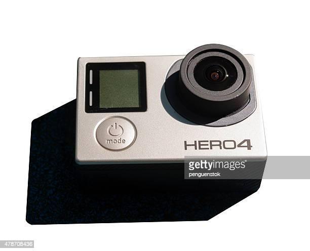 GoPro ヒーロー 4 白で分離