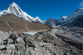 Gorakshep village near Everest base camp, Everest region, Nepal, travel Asia