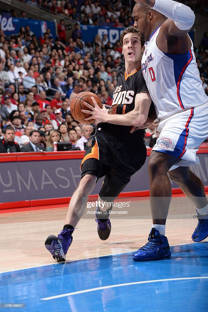 <a gi-track='captionPersonalityLinkClicked' href=/galleries/search?phrase=Goran+Dragic&family=editorial&specificpeople=4452965 ng-click='$event.stopPropagation()'>Goran Dragic</a> #1 of the Phoenix Suns drives to the basket against the Los Angeles Clippers at Staples Center on March 10, 2014 in Los Angeles, California.