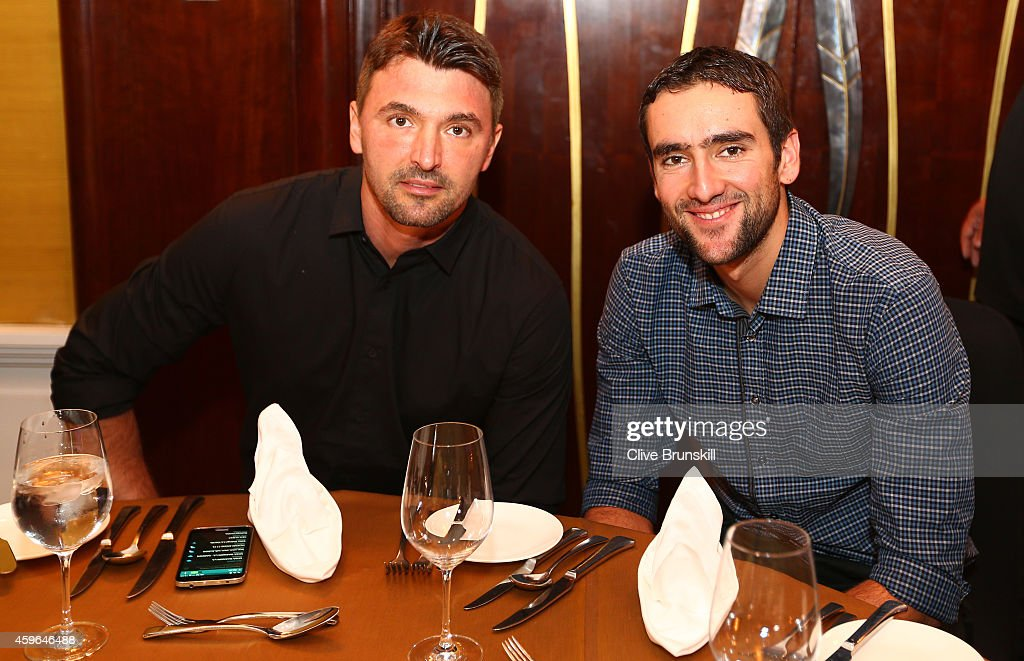 Goran Ivanisevic and Marin Cilic of the UAE Royals at the IPTL gala dinner prior to the start of the CocaCola International Premier Tennis League at...