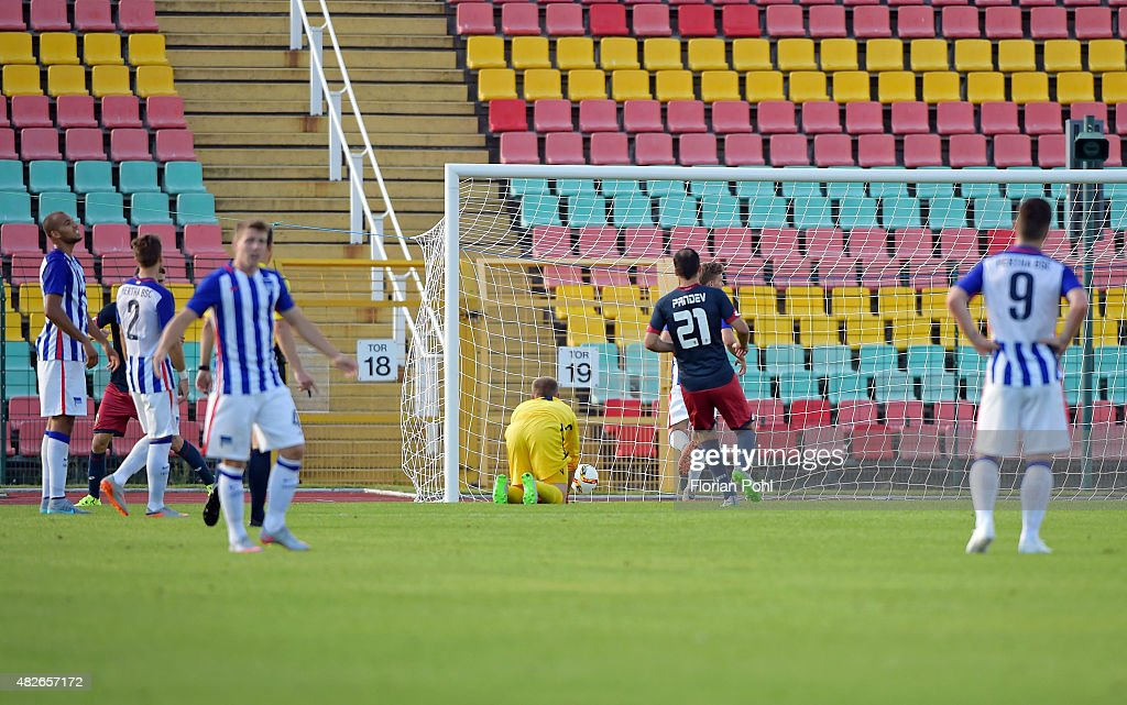 0 during the game between Hertha BSC and CFC Genua on august 1, 2015 in Berlin, Germany.
